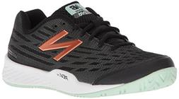 New Balance Women's 896v2 Tennis Shoe, Black/Seafoam, 10.5 D