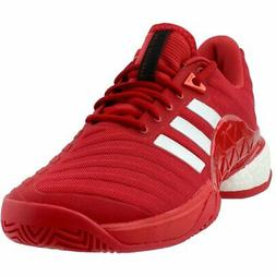adidas Barricade 2018 Boost Tennis Shoes - Red - Mens