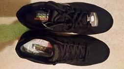 SKECHERS BLACK LITE WEIGHT MEN'S SIZE 9.5 WIDE NEW NO TAG OR