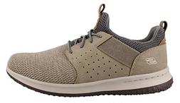 Skechers Men's Classic Fit-Delson-Camden Sneaker,taupe,14 Wi