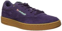 Reebok Men's Club C 85 Sneaker, deep Purple/Malachite lite/G