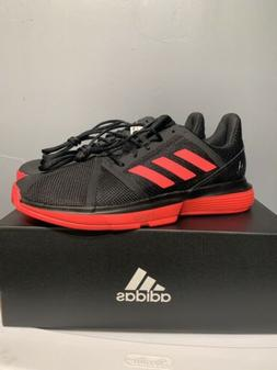 adidas CourtJam Bounce Men's Tennis Shoes Black/Shock Red. S