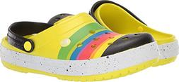 Crocs Unisex Crocband Color-Burst Clog Tennis Ball Green/Bla