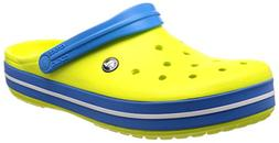 Crocs Unisex Crocband Clog, tennis ball green/ocean, 5 US Me