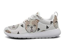 LOKIJM English Bulldog Portrait Tennis Shoes for Men Customi