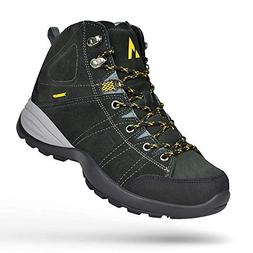 Feetmat Womens Hiking Shoes Leather High-Tope Breathable Out