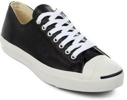 Converse Jack Purcell Leather Fashion-Sneakers, Black/White,
