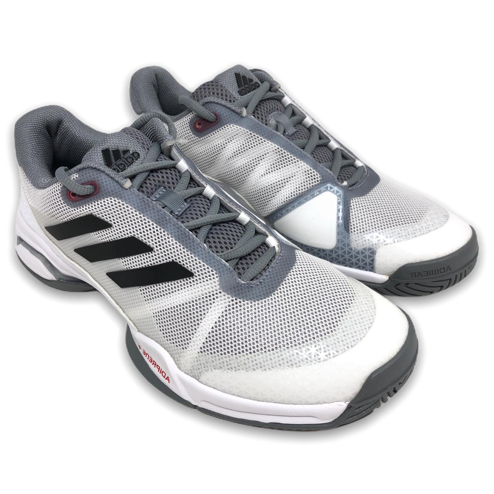 Adidas Tennis Shoes White/Grey-Black Clay Court