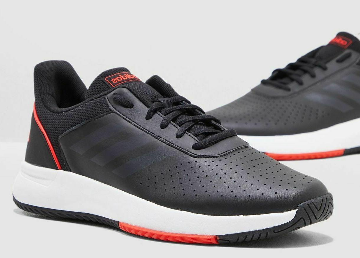 Adidas Black White Courtsmash Tennis Shoes - Size and Color
