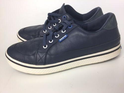 men s sneakers leather navy blue size