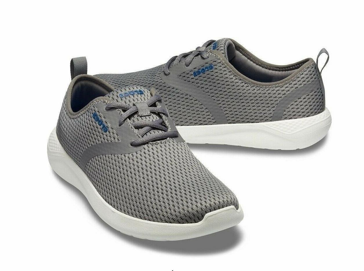 mens literide mesh lace up sneaker shoes