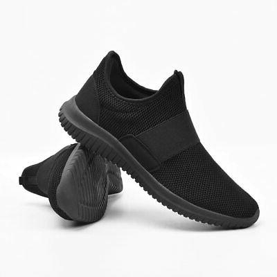 Feetmat Slip On Gym Shoes Laceless Knitted Fas