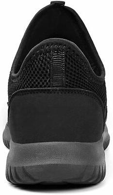 Feetmat Tennis Slip Shoes Laceless Knitted Workout Fas