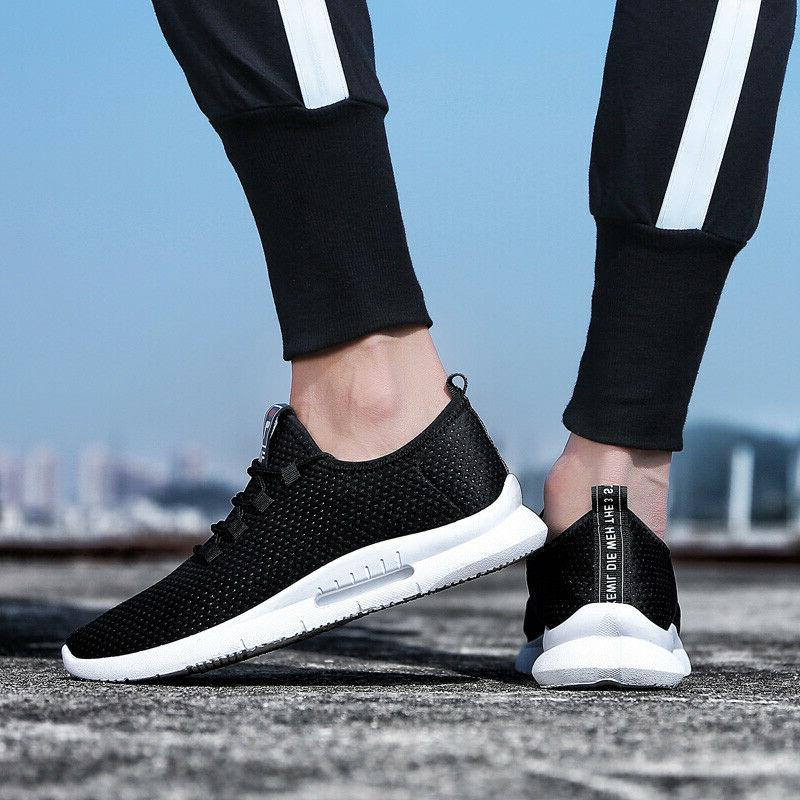 Mens Running Shoes Breathable Gym Sneakers US