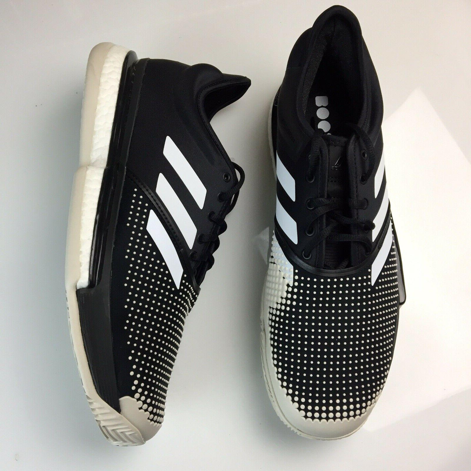 Adidas Tennis Black Mens Sneakers NEW
