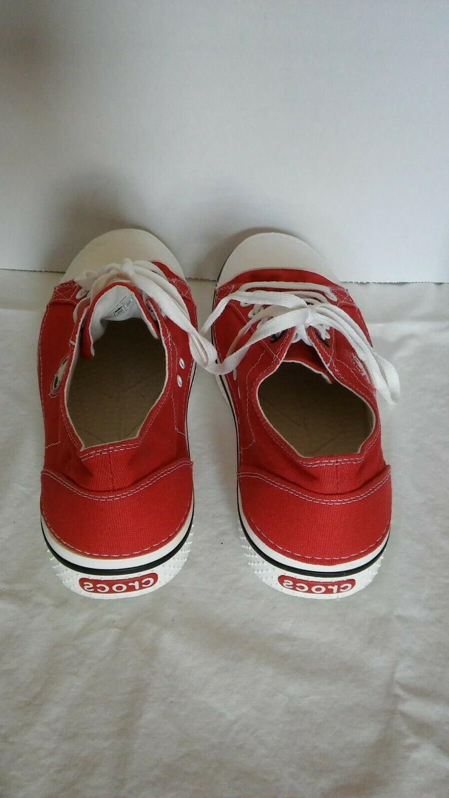 tennis shoes sneakers red mens 10 canvas