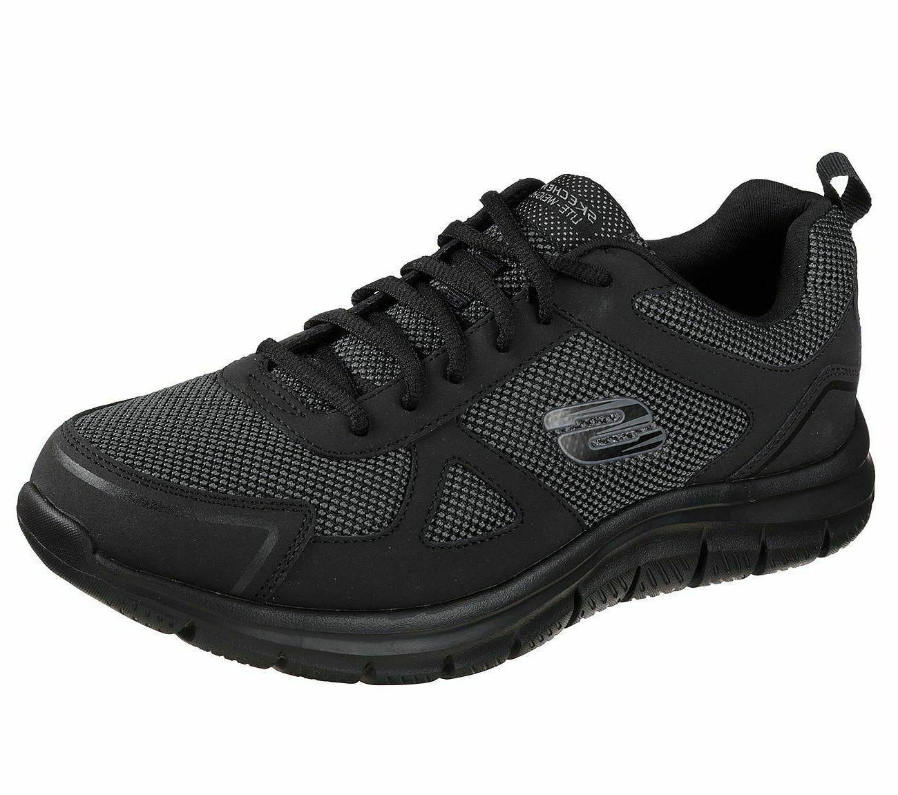 track bucolo mens black lace up gym