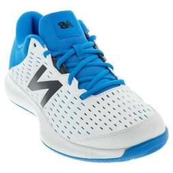 New Balance Men`s 696v4 D Width Tennis Shoes White and Blue