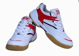 Men's Badminton Shoes FIRE FLY EXCEL White Red Tennis Outdoo