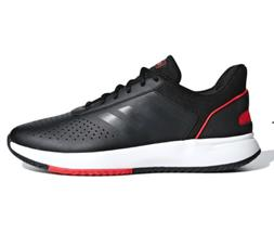 Adidas Men's Black Red White Courtsmash Tennis Gym Shoes Sne