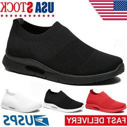 Men's Casual Sneakers Breathable Lightweight Slip-on Tennis