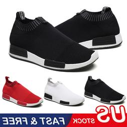 Men's Running Shoes Breathable Casual Lightweight Walking Gy
