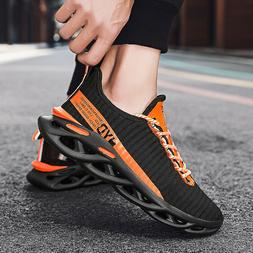Men's Sneakers Breathable Outdoor Running Shoes Lace Up  Spo