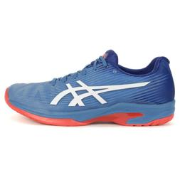 ASICS Men's Solution Speed FF Azure/White Tennis Shoes 1041A