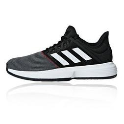 adidas Mens Game Court Tennis Shoes Black Sports Breathable