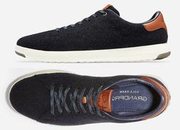 Mens Cole Haan GrandPro Tennis Shoes Navy Wool Sneakers NEW