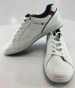 Champion Mens Leather Ace Court Tennis Shoes White/Navy Blue