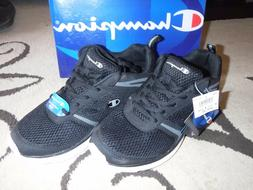 Mens champion running shoes, tennis shoes, black size 8.5/8
