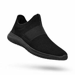 Feetmat Mens Tennis Shoes Slip On Running Gym Shoes Laceless