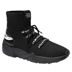 Hunzed men shoes Mesh Breathable Sneakers high to Help Fashi