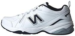 New Balance Men's MX608v4 Training Shoe, White/Navy, 10 4E U