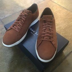 NEW COLE HAAN GRANDPRO TENNIS Brandy Brown Suede MENS SNEAKE