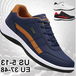 New Men's Fashion Leather Casual Sneakers Sports Running Sho