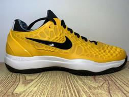 New Men's Nike Zoom Cage 3 Clay Tennis Shoe Size 9 Gold Blac