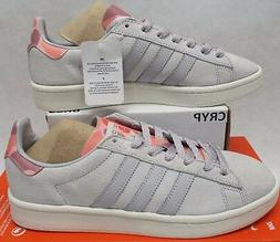 New Mens 10.5 ADIDAS Campus Suede Leather Grey Coral Tennis