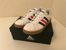 Size 9 Adidas Grand Court Men's Leather Cloudfoam Causal Sho