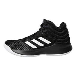 adidas Unisex Pro Spark 2018 Basketball Shoe, Black/White/Gr