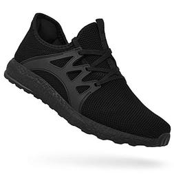 Feetmat Men's Tennis Shoes Breathable Fashion Sneakers Black