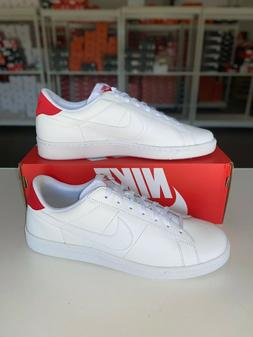 tennis classic cs casual shoes white red