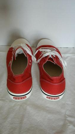 Crocs Tennis Shoes Sneakers Red Men's 10 Canvas - New