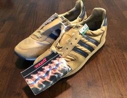 Vintage 70s TRAX Running Shoes Beige Brown Suede Track Tenni